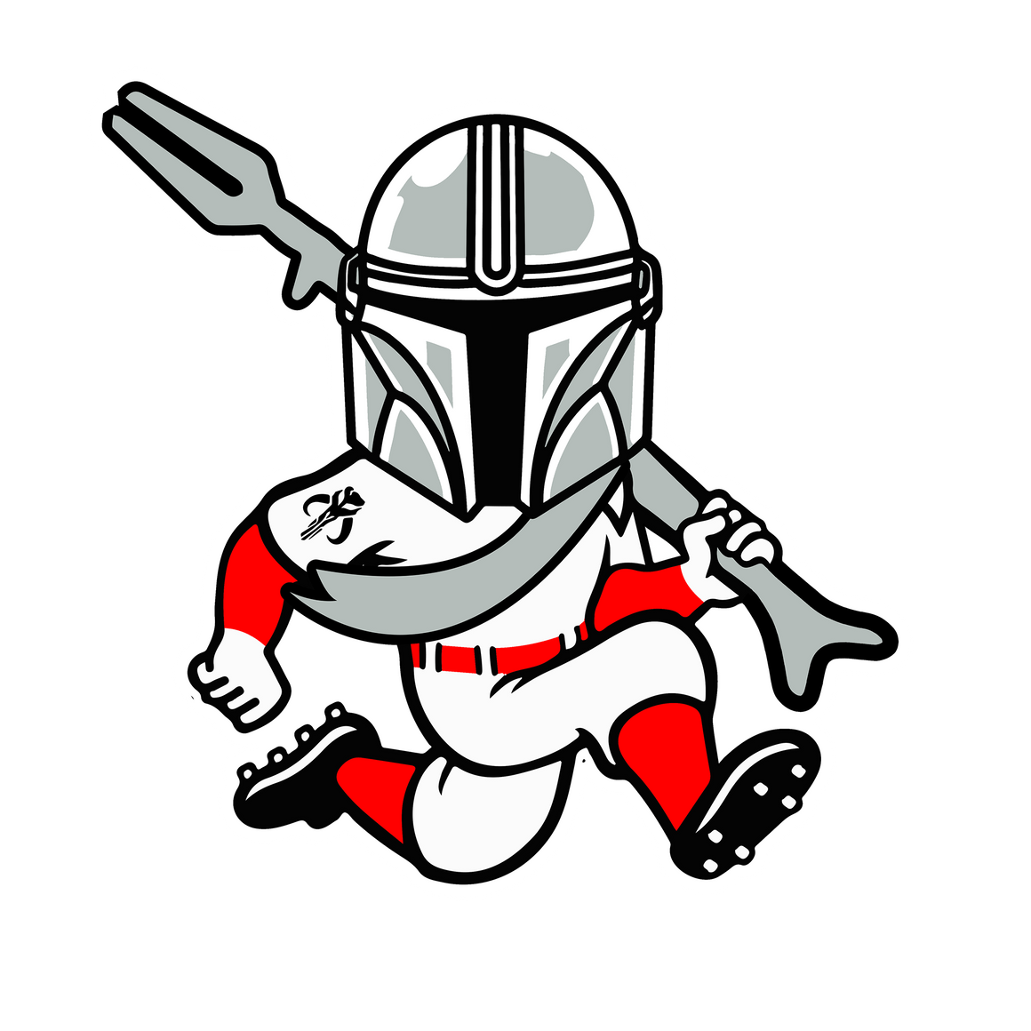 Mando-Red-lorian Sticker - Cincy Shirts