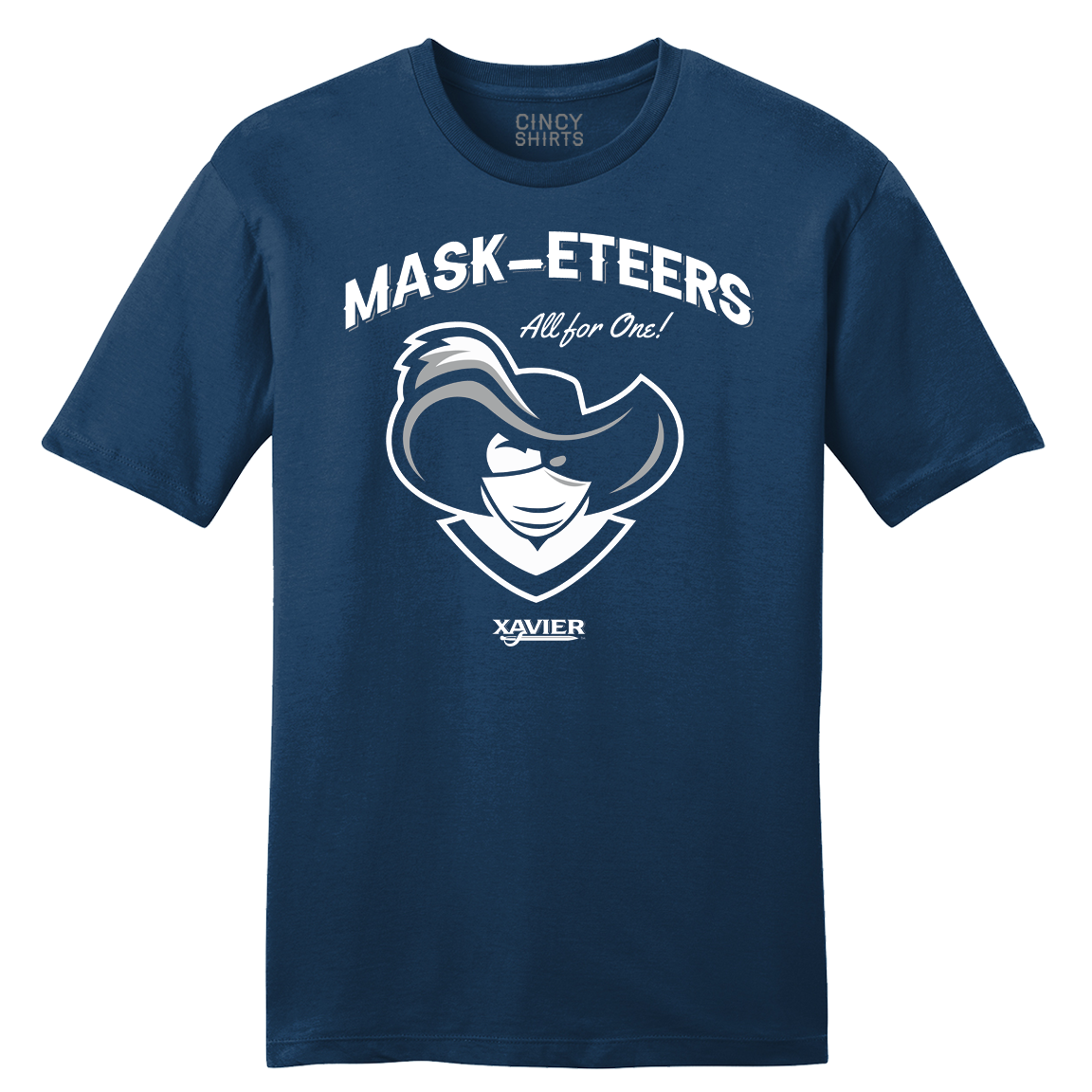 "Mask-eteers ""All For One!"" - Cincy Shirts"