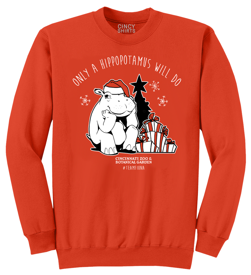 Fiona Hippopotamus for Christmas 2020 - Cincy Shirts