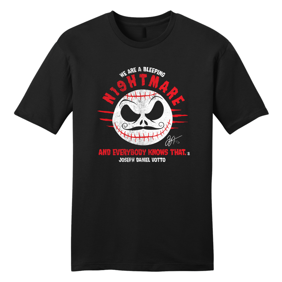 We Are A Nightmare Joey Votto Tee - Cincy Shirts