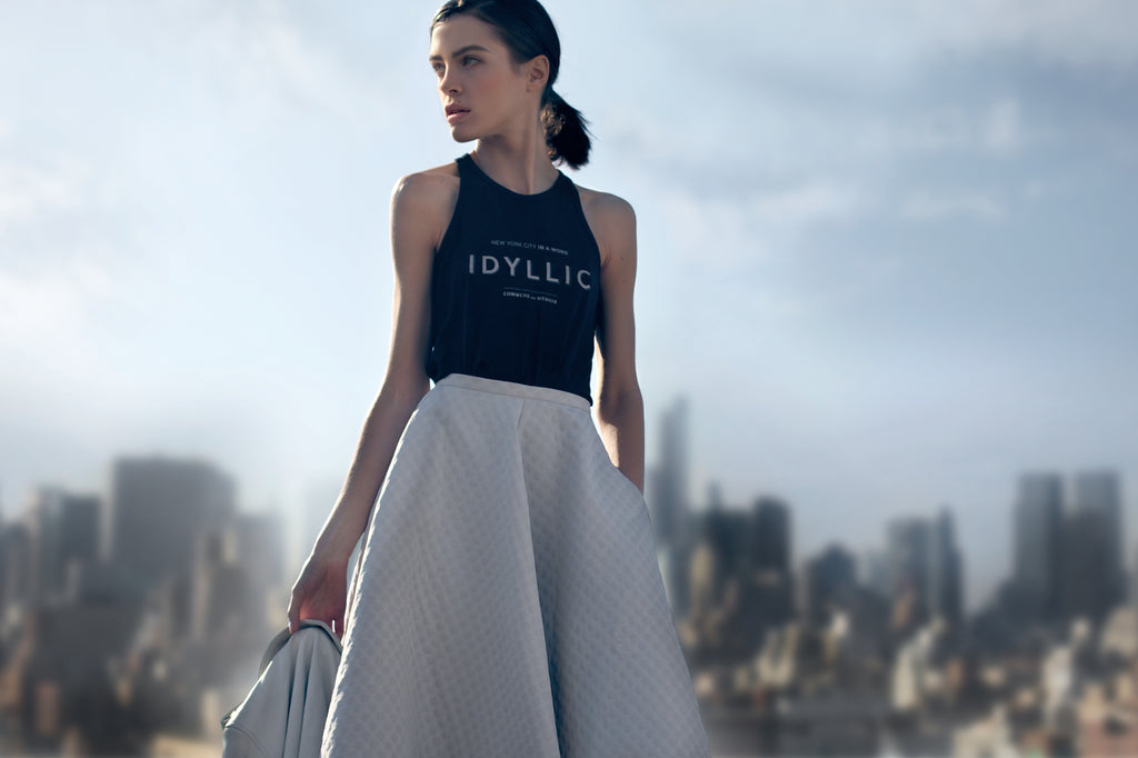 Idyllic New York Deep-Tank Top Pima Cotton