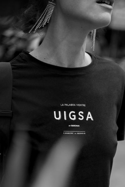 Uigsa/Vientre/Womb - black t-shirt