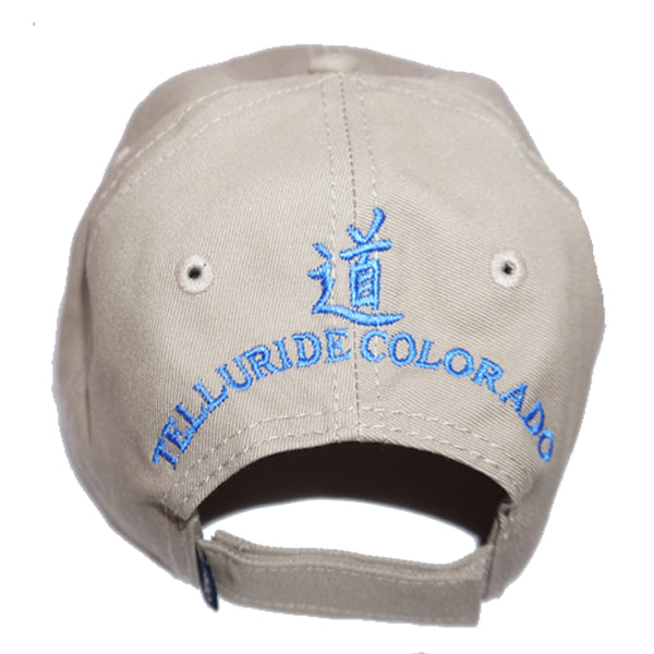 c58f06f3 Jagged Edge Classic Logo Cap - Tan & Blue - Jagged Edge Mountain Gear