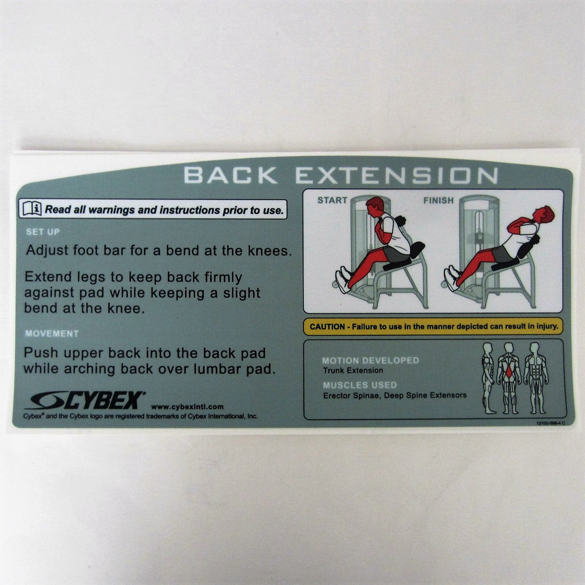 Cybex VR3 Back Extension
