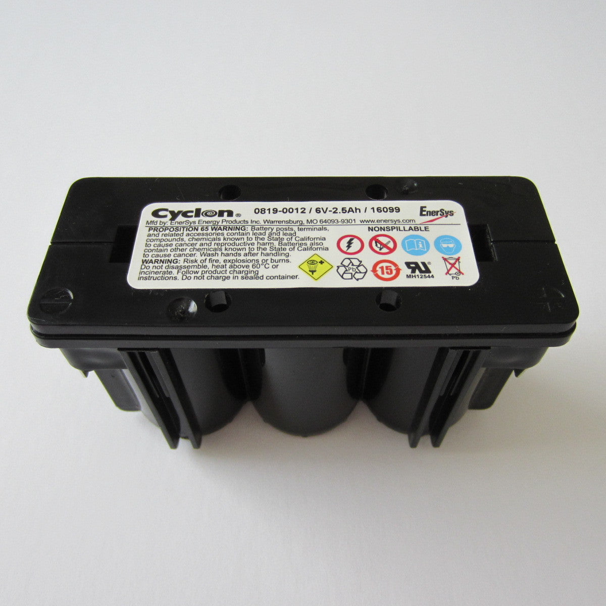 6 Volt 2.5 Ah 3-Cell Battery