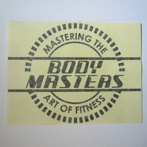 "Mastering The Art of Fitness Decal 12"" x 9"""