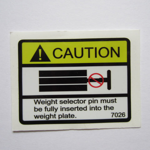 "Caution Decal 3"" x 2-1/2"""