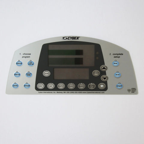 Cybex 610A/620A/629A/630A Upper Display Overlay Keypad