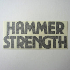 "Hammer Strength Shroud Decal Black 10"" x 4-1/4"""