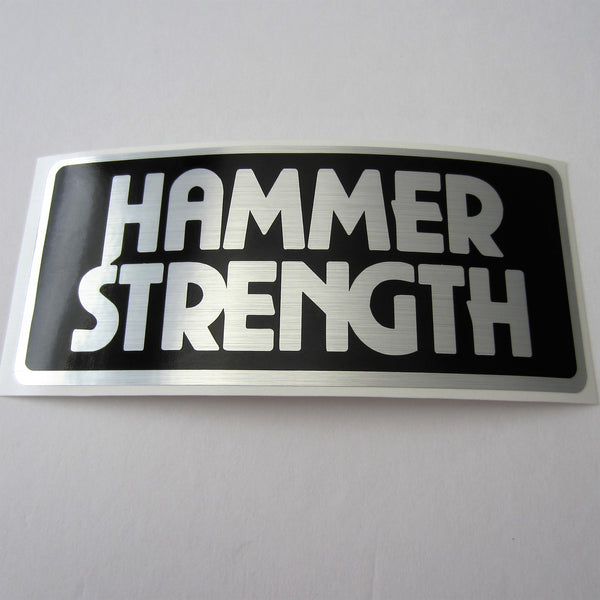 Hammer Strength Brushed Silver Decal 6 Quot X 3