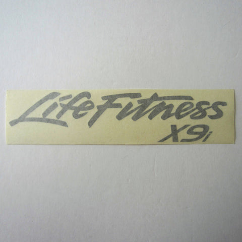 Life Fitness X9i Rear Arm Cover Decal Silver