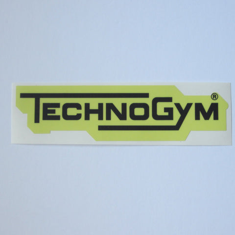 "TechnoGym Decal 8"" x 2"" Yellow & Black"