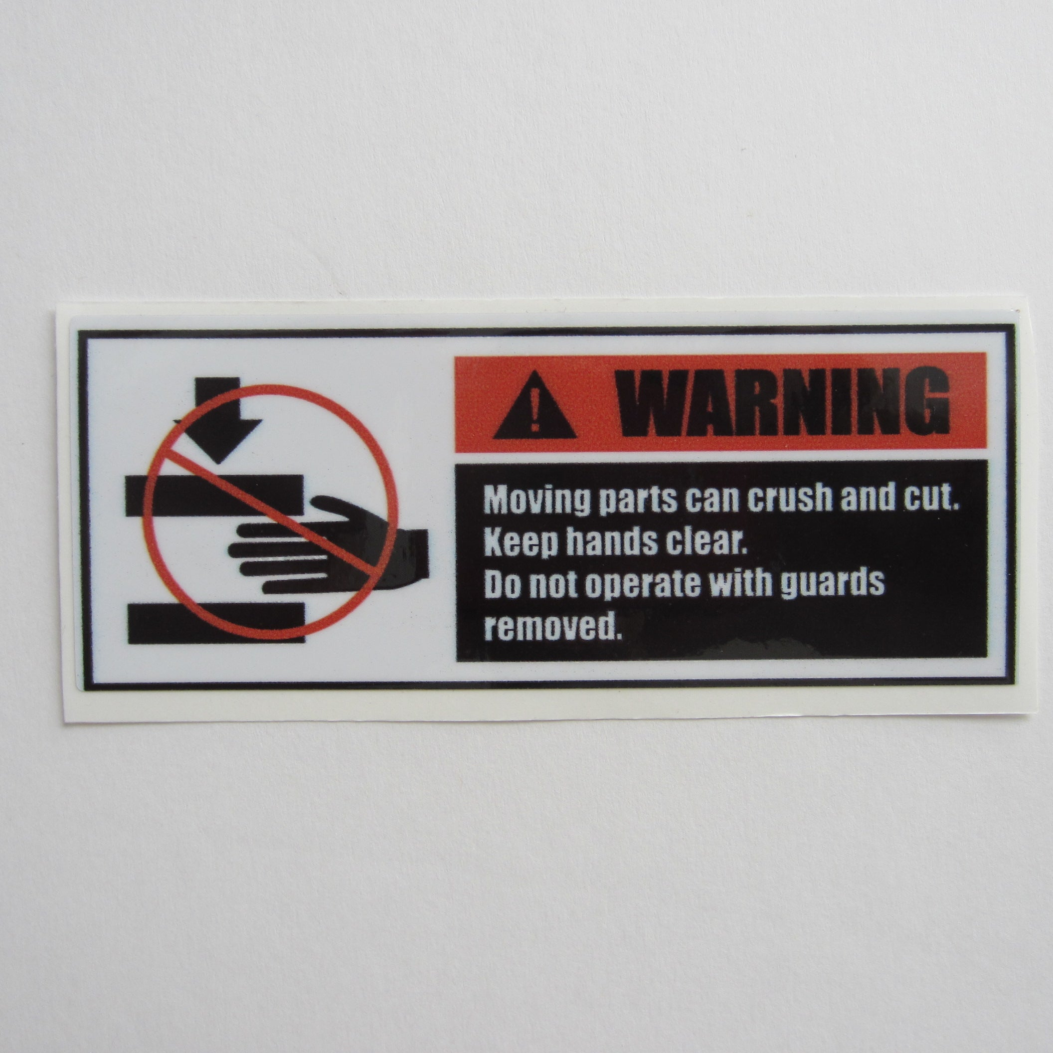 "Warning Decal 5"" x  2"""