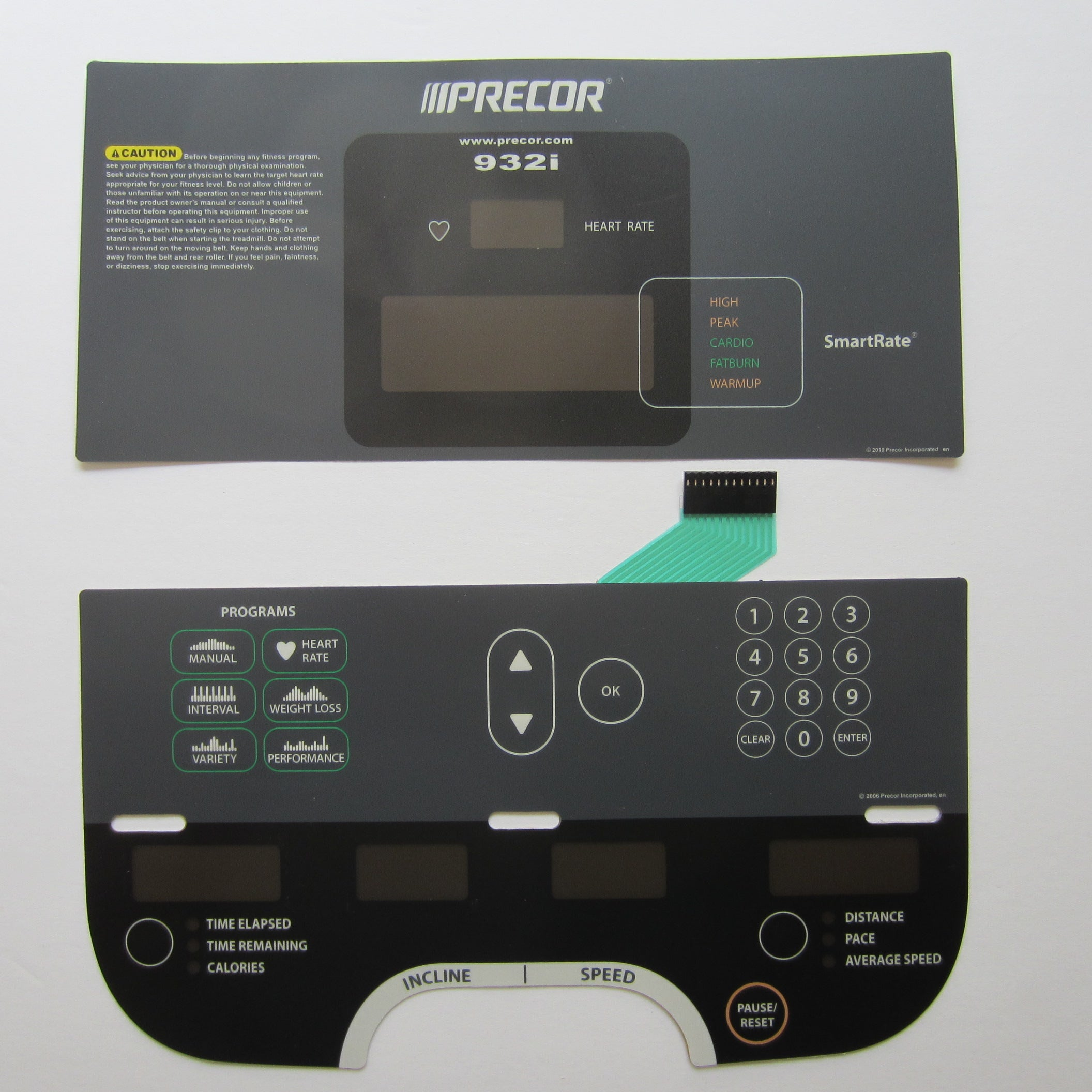 Precor 932i Keypad Overlay Set