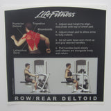 Life Fitness Signature Row / Rear Deltoid Instruction Decal
