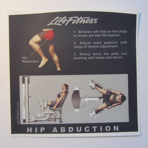 Life Fitness Signature Hip Abduction Instruction Decal