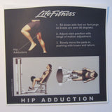 Life Fitness Signature Hip Adduction Instruction Decal