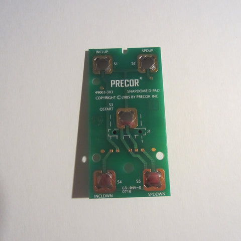 Precor D-Pad PCA Snap Dome Circuit Board,