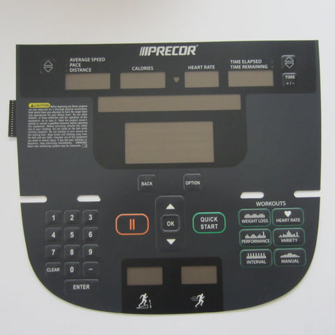 Precor P30 Treadmill Overlay Keypad