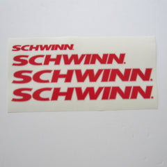 Schwinn AC Frame Decal Set Red on Clear (4)