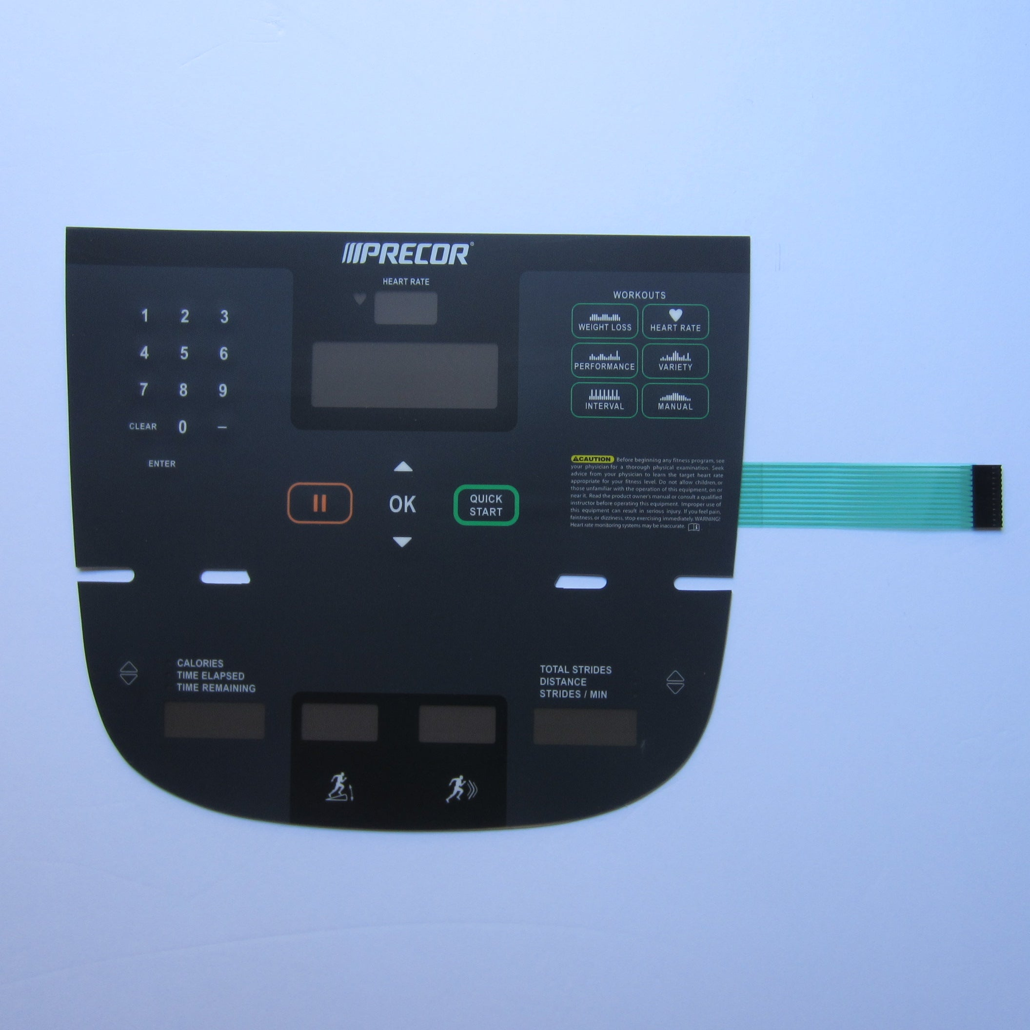 Precor P10 Elliptical Overlay Keypad