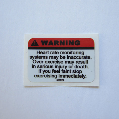 "Keiser Warning Decal  1 1/2"" x 1"""