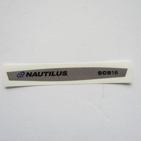 StairMaster / Nautilus SC916 Display Decal