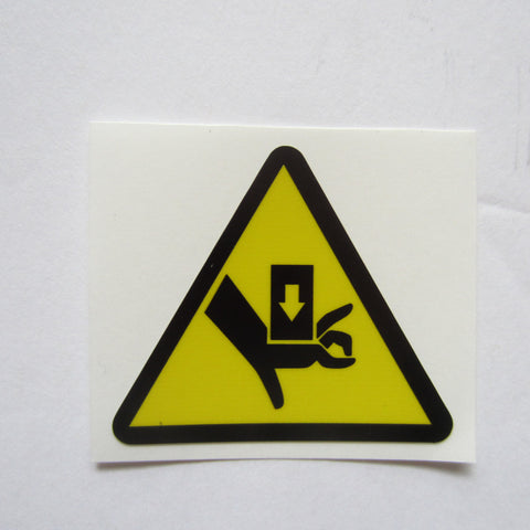 "Triangle Warning Decal 1 1/2"" x 1-1/2"""