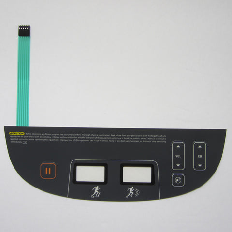 Precor P80 AMT 12-885 Open Stride Lower Controller Overlay Keypad.
