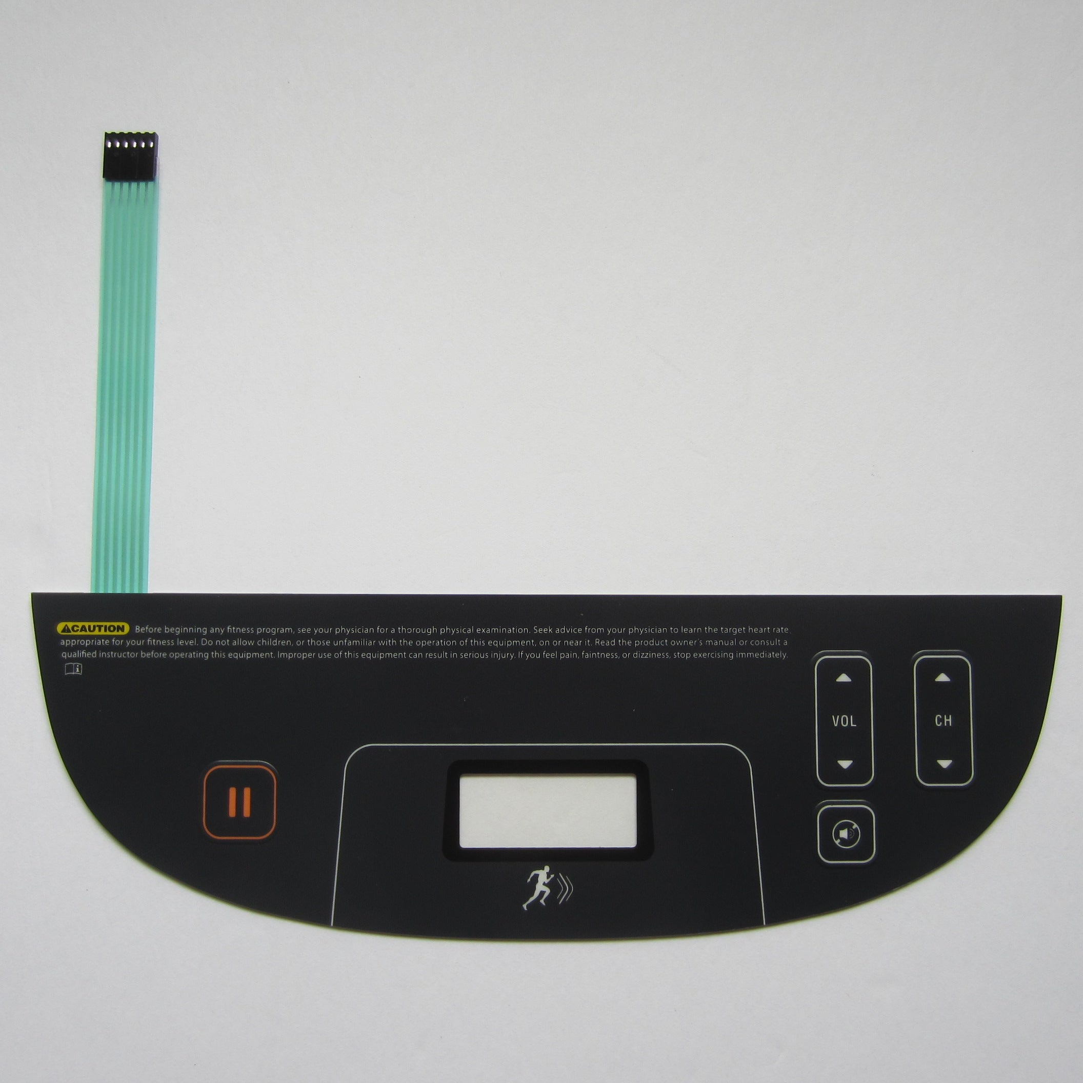 Precor P80 AMT 10-885 Lower Controller Overlay Keypad.