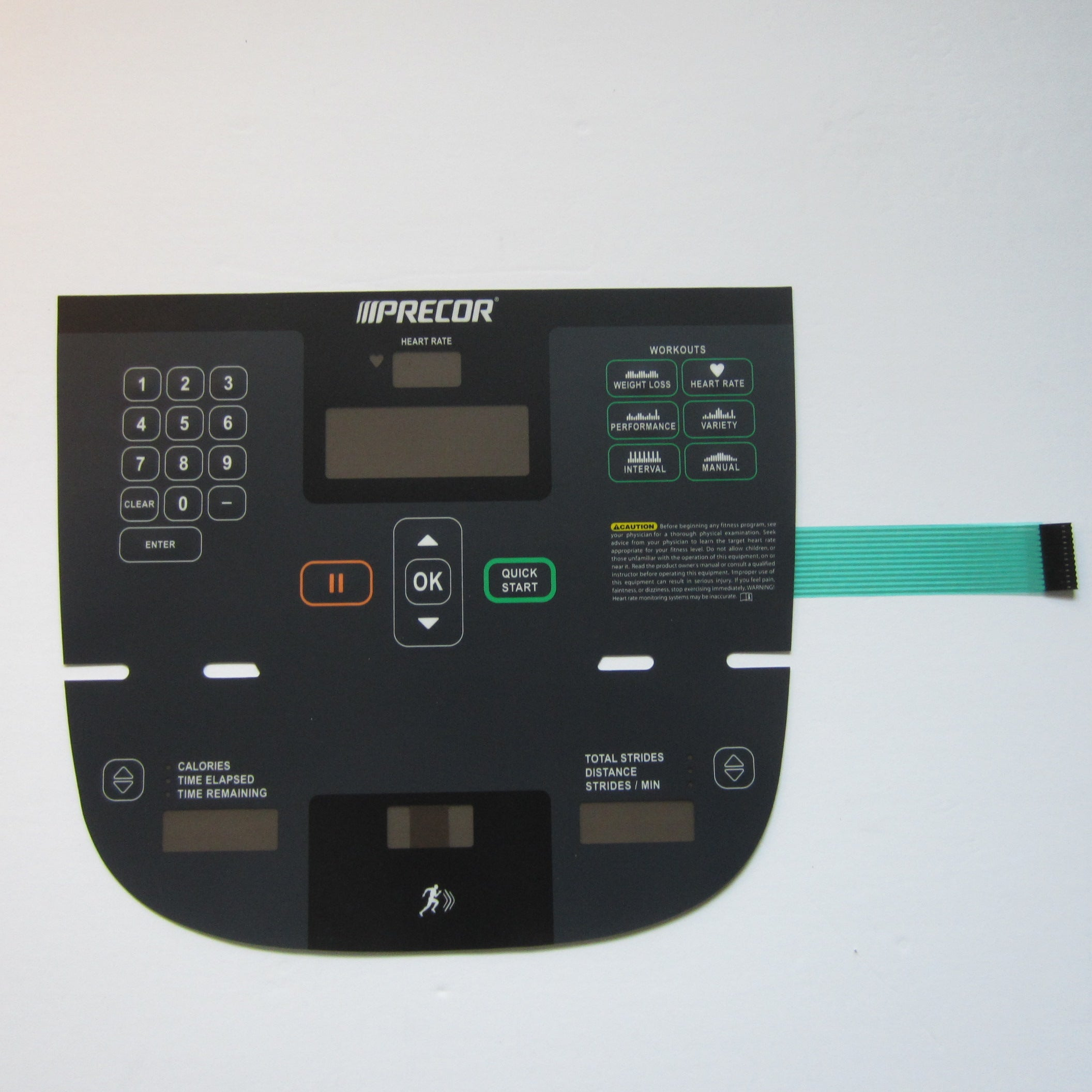 Precor P10 811 Elliptical Overlay Keypad