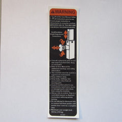 Keiser Seat / Handle Bar Adjustment Warning Decal