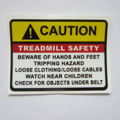 "Caution Treadmill Safety Decal 2-3/4"" x 2"""