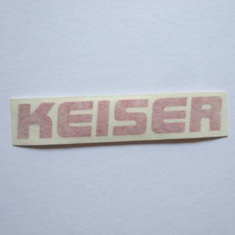 "Keiser Decal Red 3 3/4"" x 3/4"""