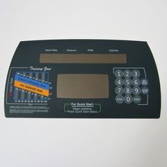 Life Fitness 9500HR Next Gen Bike Upper Display Overlay