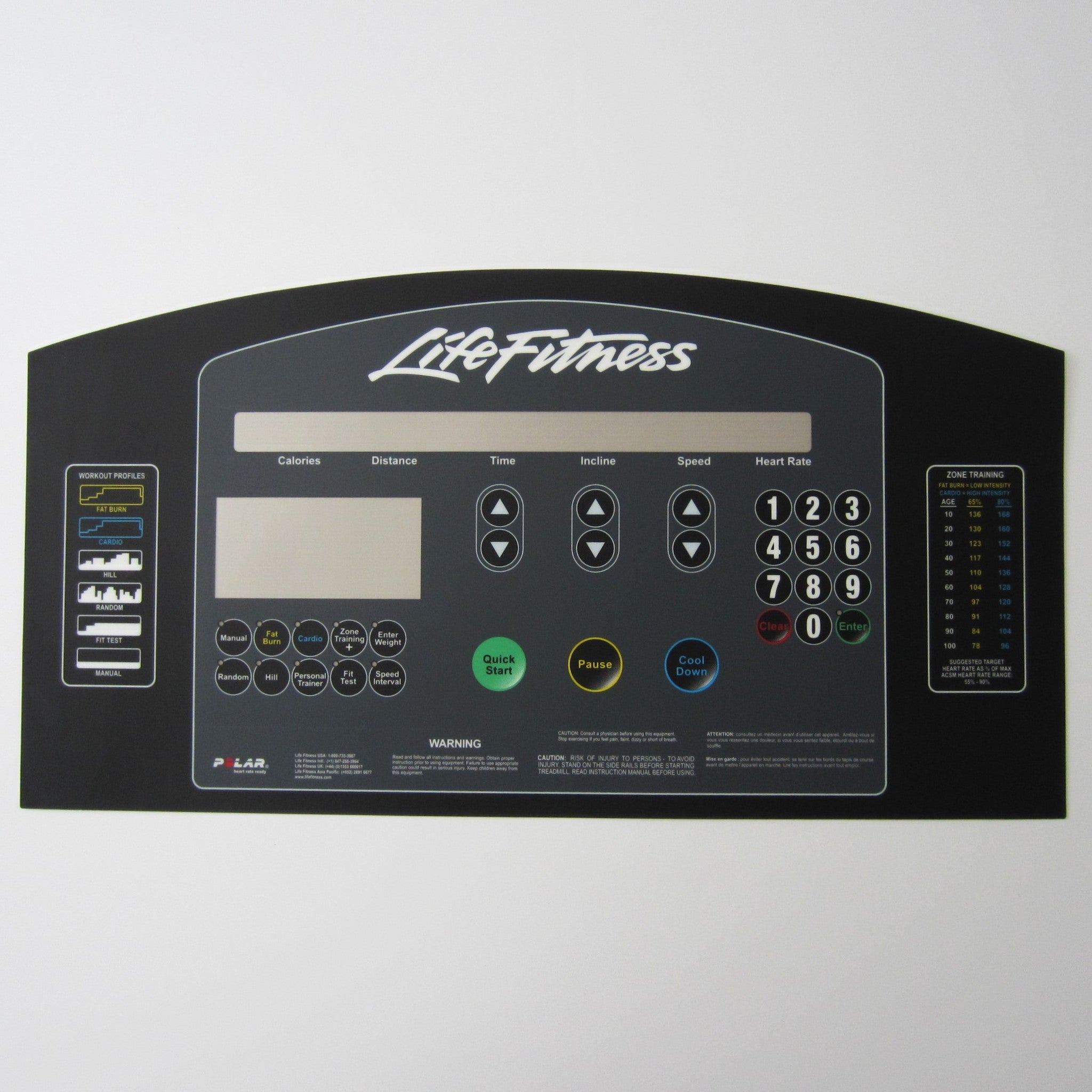 "Life Fitness 95Ti Display Overlay, ""Integrity Look"""