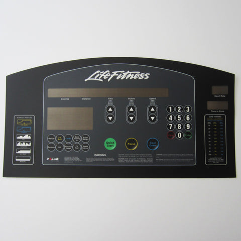 "Life Fitness 97Ti Display Overlay, ""New Style"""