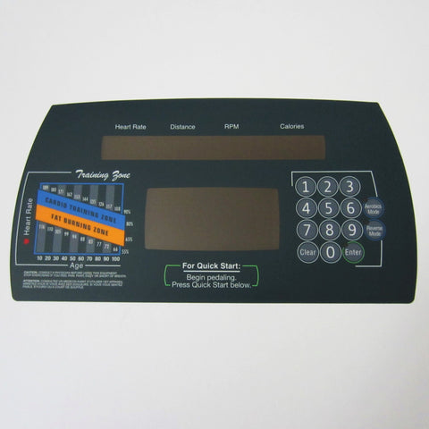 Life Fitness CT9500HR Next Gen Upper Display Overlay
