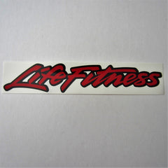 Life Fitness Decal Red / Black 10""