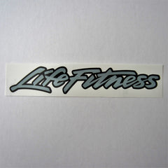 Life Fitness Decal Grey / Black 10""