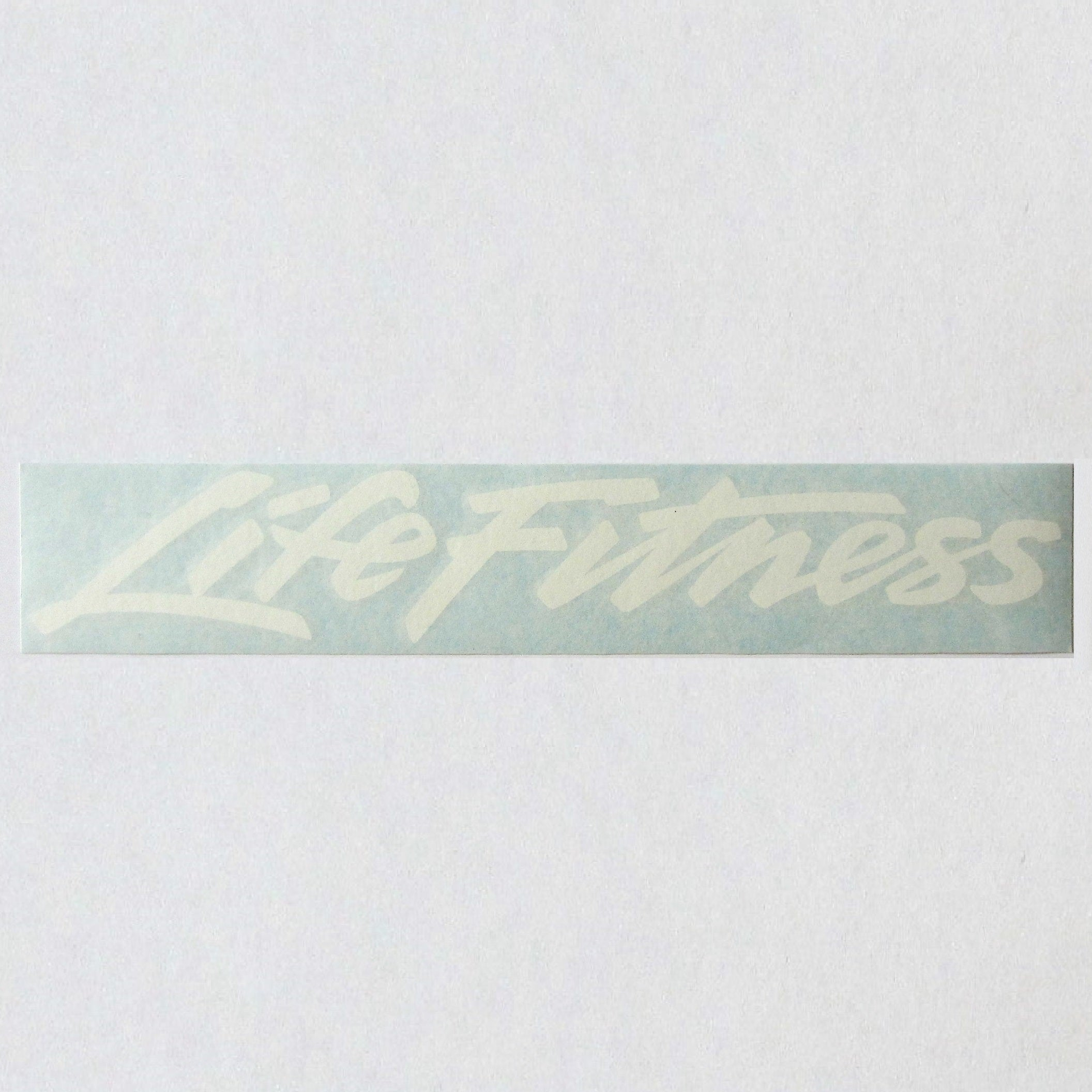 "Pro 2 - White Life Fitness 12"" Frame Decal"