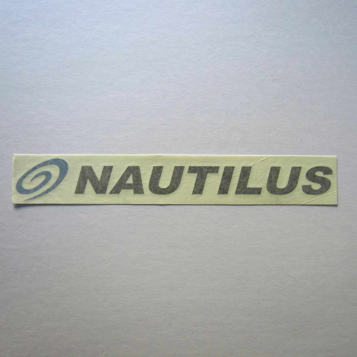 Nautilus Decal Black w/ Blue Swoosh