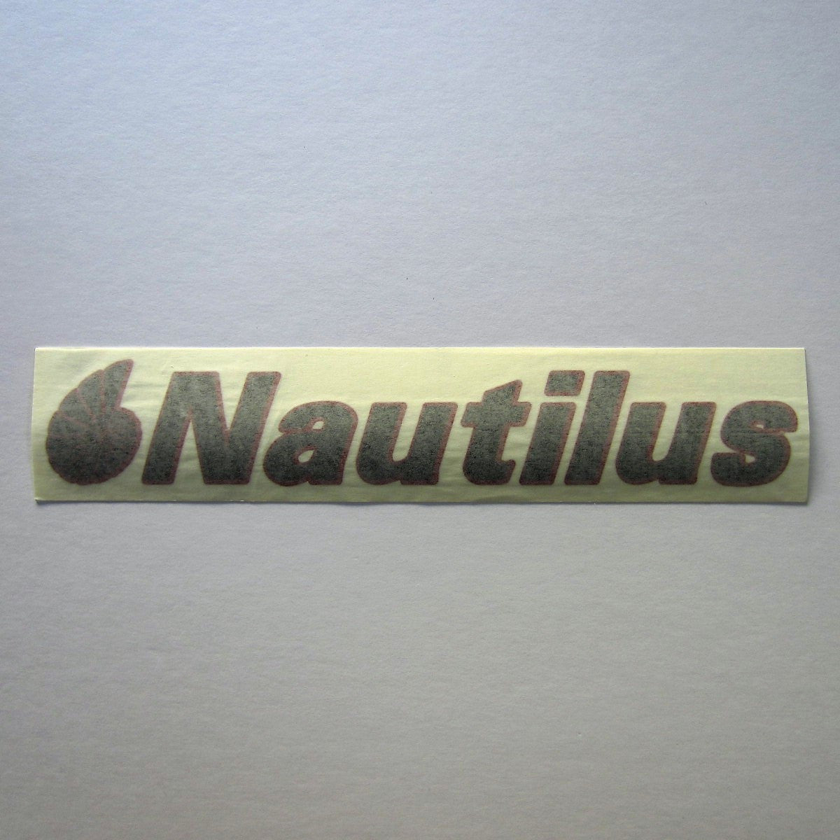 Nautilus Decal Black w/ Red Outline