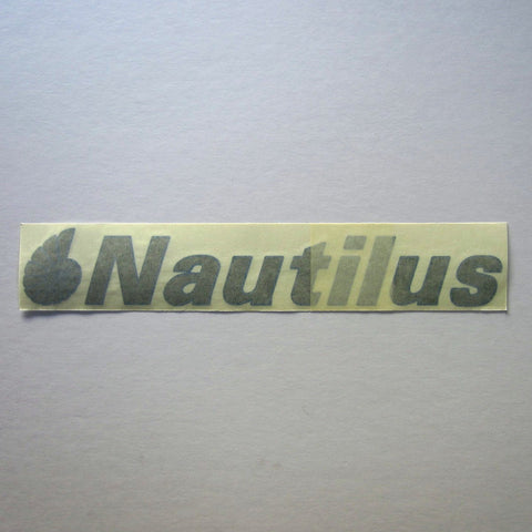 Nautilus Decal Gray w/ Blue Outline