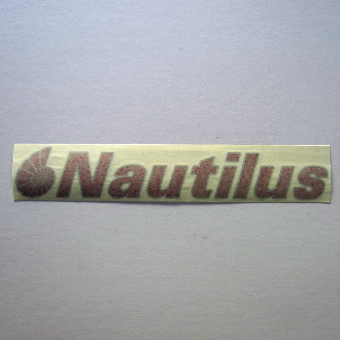 Nautilus Decal Red w/ Gray Outline