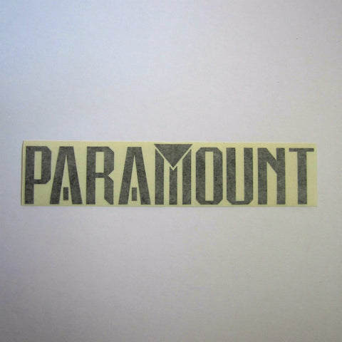 "Paramount Decal Black 11-1/2"" x 2-1/2"""