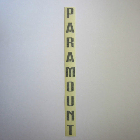 "Paramount Decal Black 14"" x 1"""
