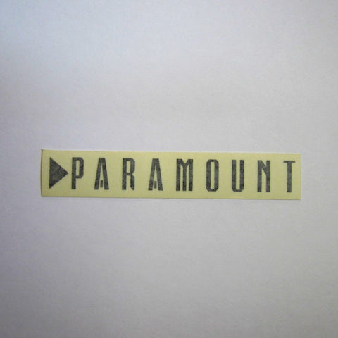"Paramount Decal Black 7"" x 1"""