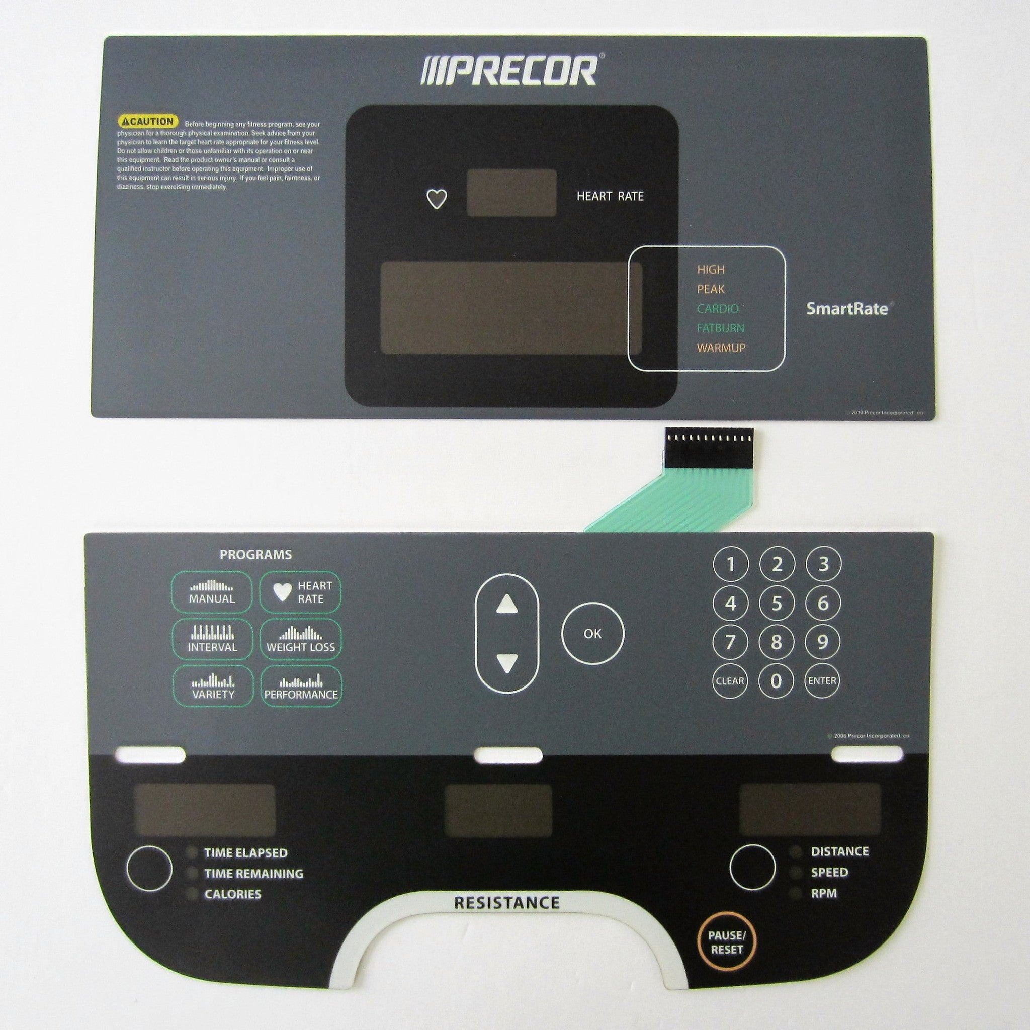 Precor RBK / UBK 615 Overlay Keypad Set