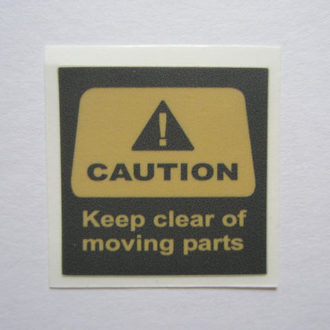 "Precor Caution Decal 1-3/8"" x 1-3/8"""